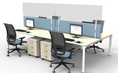 Divisori in plexiglass da scrivania