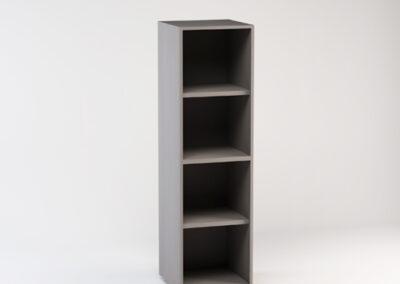 Libreria media a giorno 45 x 44,5 x 158,3 h cm