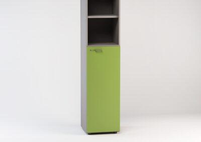 Libreria alta a giorno con anta media 45 x 46,3 x 196,7 h cm