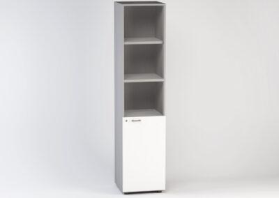 Libreria alta a giorno con anta bassa 45 x 46,3 x 196,7 h cm