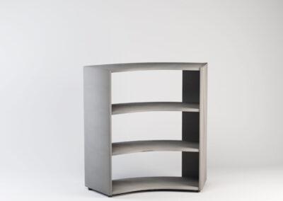 Libreria angolare bifacciale 45° in nobilitato 91,7/125,8 x 44,5 x 119,8 h cm