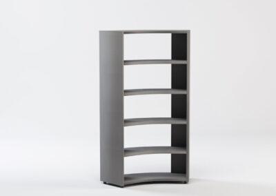 Libreria angolare bifacciale 45° in nobilitato 91,7/125,8 x 44,5 x 196,7 h cm